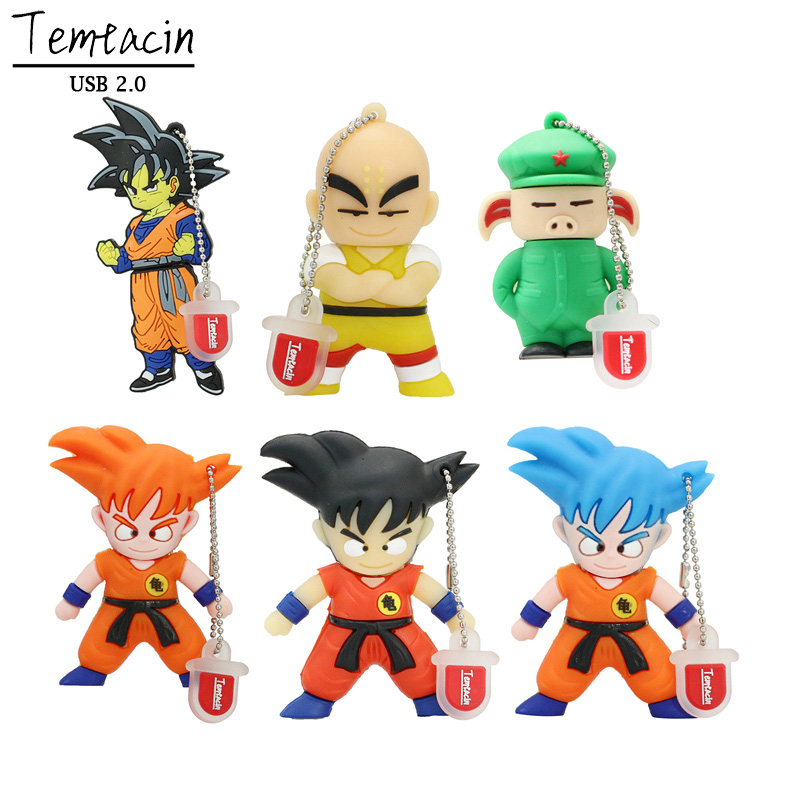 USB flash meghajtó U Disk Dragon Ball PenDrive 4G Colin 8G 16G 32G Kungfu Wukong USB flash meghajtó Ajándék toll Drive Memory Stick Pig