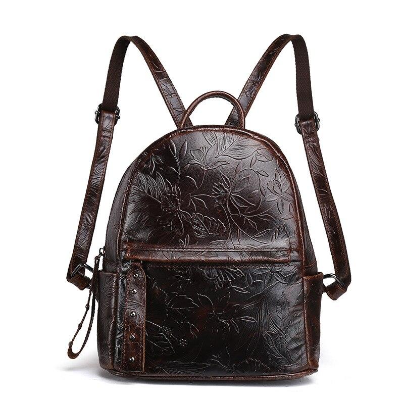 Baoersen nouveau Designer sacs à bandoulière pour filles mode femmes sac à dos avec chaîne en cuir véritable sac à dos femme de haute qualité