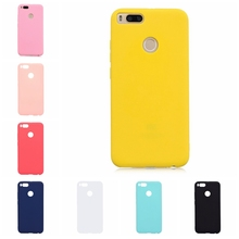 For Xiaomi Mi 5X Case Cover Soft Silicone Candy Color Phone