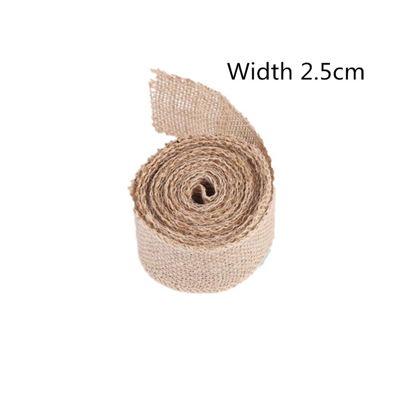 5 Lgogo 2m Burlap Ribbon Jute Wedding Decoration Rustic Wedding