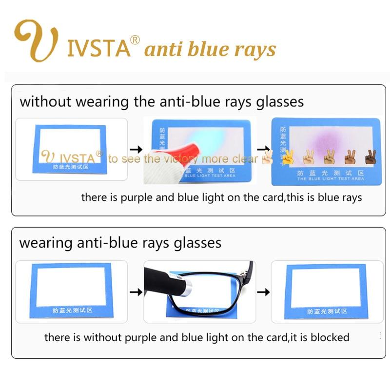 IVSTA dengan Kasus kartu uji cahaya Kacamata Komputer Kacamata Anti - Aksesori pakaian - Foto 2