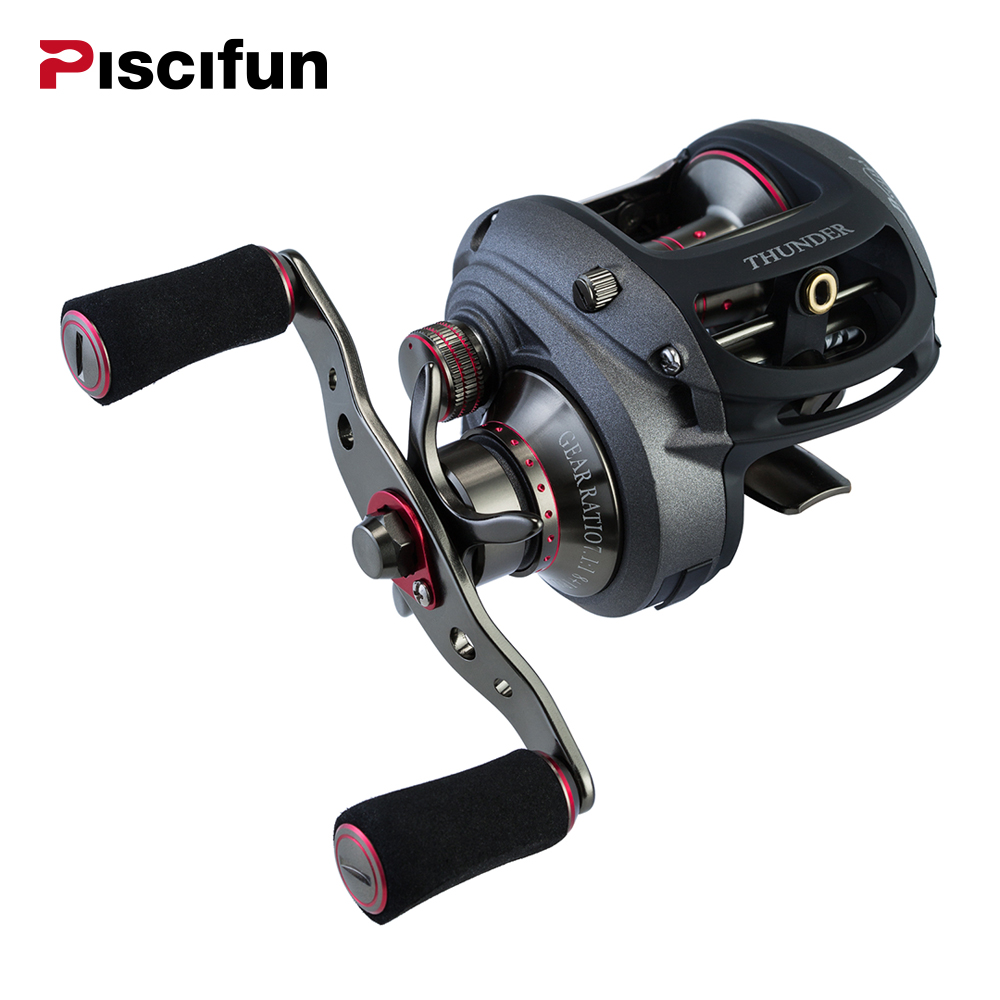 Piscifun Thunder Fishing Reel 8.2Kg Drag Power 7.1:1 Gear Ratio 238g Aluminum High Speed Right and Left Baitcasting Reel goture ares max series fishing reels saltwater baitcasting reel max drag 10kg 6 3 1 left right hand carbon fiber drag system
