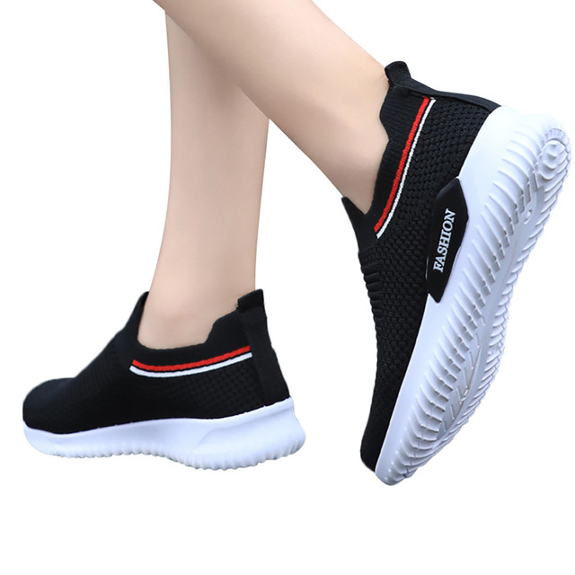 sandalias de verano para mujer zapatos mujer Women's Leisure Breathable Mesh Outdoor Fitness Running Sport Sneakers Shoes #4gh