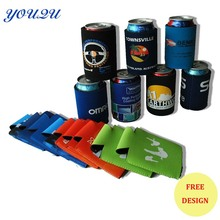 Hot sell custom beer stubby holder with customer logo printing, heat transfer printing Neoprene can coolers
