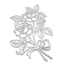 Carbon Steel Plant Flower Rose Pattern Cutting Die Embossing Stencil Mold For DIY Paper Art Handcraft Scrapbook Card Decoration diy santa pattern carbon steel cutting die