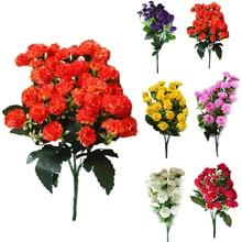 Модные искусственные шелковые цветы Гвоздика 30 Цветы с бутонами 6 веток 1 букет Сиреневый цветок для мамы Свадебные Вечерние