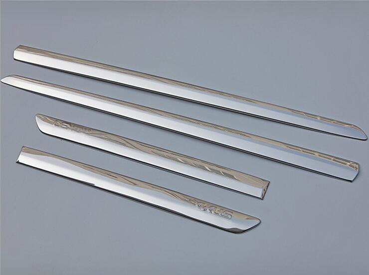 Для LEXUS RX300 RX330 RX350 RX400 RX450 XU30 2003-2008 4 шт. аксессуары Нержавеющаясталь дверь кузова сбоку накладка литье