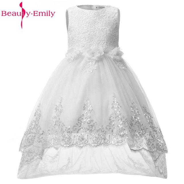 Beleza-Emily Bebê Vestidos Da Menina de Flor 2017 Vestido de Festa de Verão Formais Casamentos Eventos Primeira Comunhão vestidos Da Menina para crianças vestidos