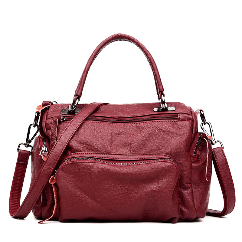HOT Women Portable Female PU Leather Handbags Lady Shoulder messenger Bag Office Ladies Hobos Bag Totes Travel Shopping Bags