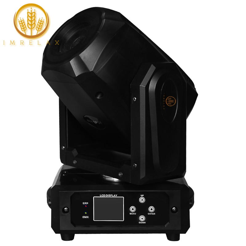 IMRELAX New 60W LED Spot Moving Head Light 3 Facet Prism Rotating GOBO LED Moving Head