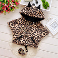 2017 winter new children's clothing girls Leopard Cartoon cotton jacket faux fur Coats Outwear 0-3 Year 175