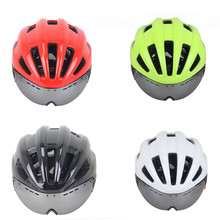 Free shipping EPS PC Ultralight 18 Vents Road Bike Helmet Safety Cycle Bicycle with Sun Visor