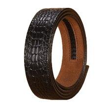 Без пряжки, только ремень) Ta-weo мужские повседневные джинсы кожаные ремни автоматическая пряжка ремень, крокодиловый полосатый пояс с узором