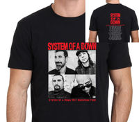 SYSTEM OF A DOWN European Tour 2017 T Shirt Men Two Sides 100 Cotton Casual Gift