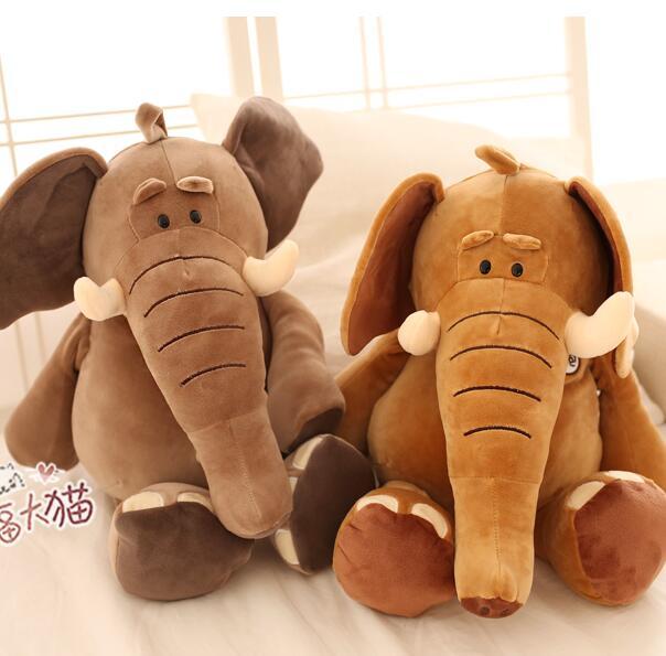 Grande taille 65 cm infantile doux apaiser éléphant jouets en peluche enfant tenir oreiller dessin animé poupées 1 pièces
