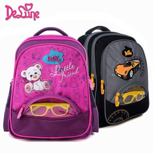 85aa3eb616aa Delune School Bag 2018 New Children Kids School Bags for Girls 3D Character  Bear Big Capacity