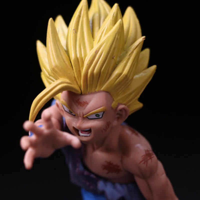 12 centímetros Anime Dragon Ball Z Super Saiyan Son Gohan Dragonball Figuras de Ação Mestre Estrelas Pedaço Estatueta Colecionável Modelo de Brinquedo