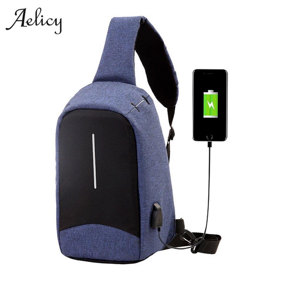 Aelicy 5 Colors New Arrival Oxford Men Chest Pack Single Shoulder Strap Back Bag Sling Travel Shoulder Bag Bolsos Mujer 0928