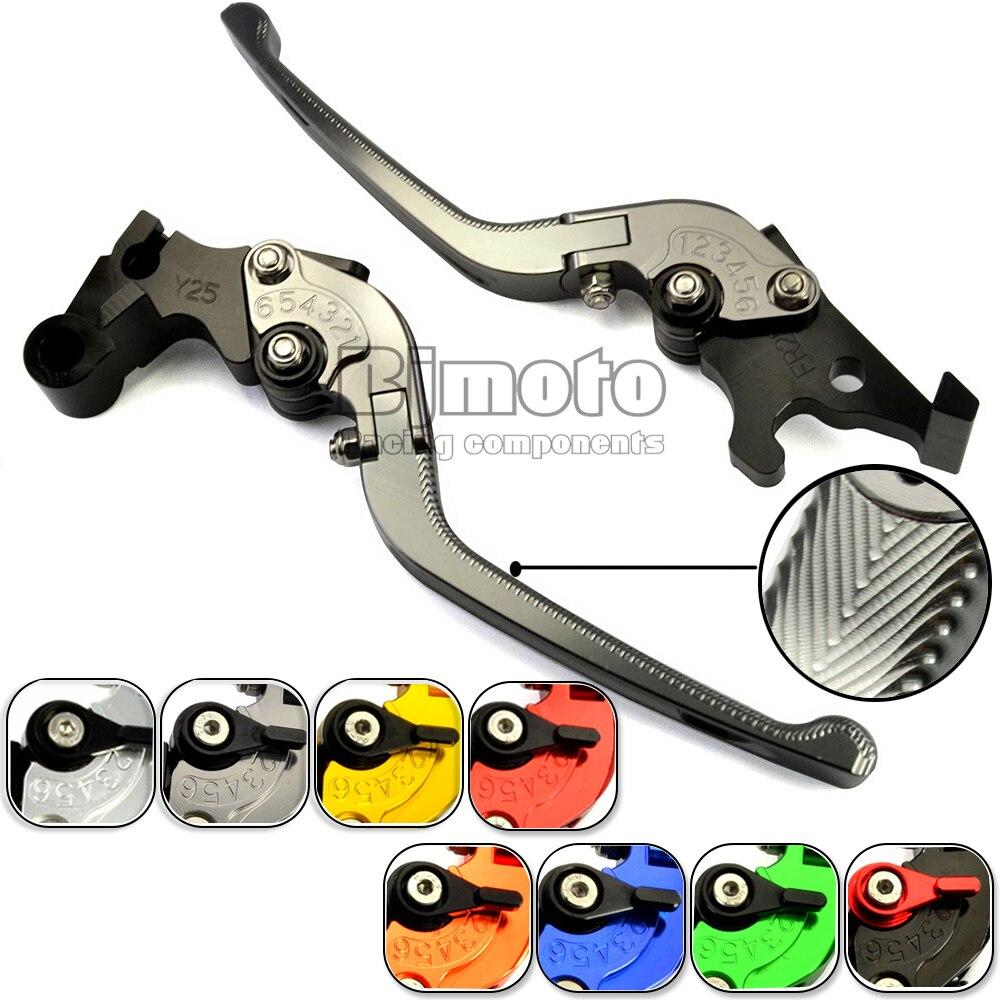 ФОТО Motorcycle Adjustable CNC Aluminum Brakes Clutch Levers Set Motorbike Brake For Yamaha Tmax 500 530 MT07 MT09 YZF R125 R25 R3