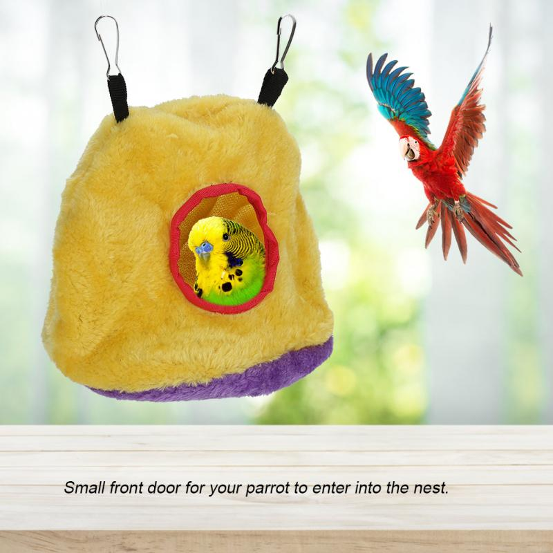 Obedient Winter Warm Windproof Soft Pet Bird Hanging Cave Cage Tent Bed Hammock For Parrots Birds Hamster Bird Supplies