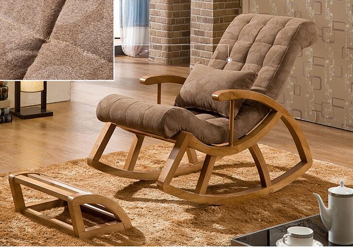 Holz schaukelstuhl segelflugzeug rocker und ottoman satz wohnzimmer