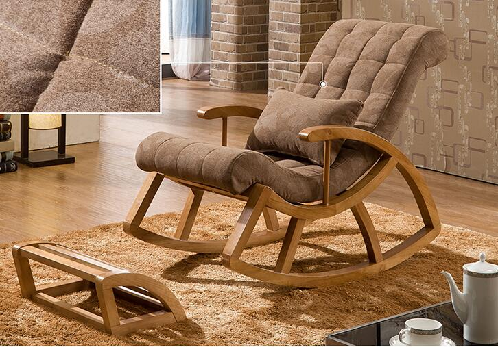 Wood Rocking Chair Glider Rocker And Ottoman Set Living Room Furniture  Cushioned Luxury Comfortable Nursery Rocking Chair Seat In Living Room  Chairs From ...