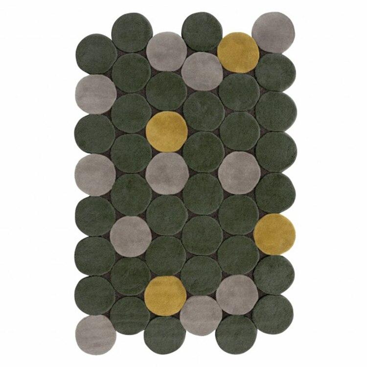 Круглый прошитый ковер для гостиной, спальни, ковер ручной акрилонитриловый ковер для гостиной, большой ковер - Цвет: Многоцветный
