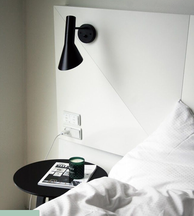 Louis poulsen arne jacobsen aj classic bedside wall lamp led lighting 2013 new europe vintage folding iron wall art e27 220v in wall lamps from lights