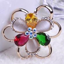 Colares Bijuterias Big Cat Eye Flowers Esmalte De font b unhas b font Broches Hijab Pins