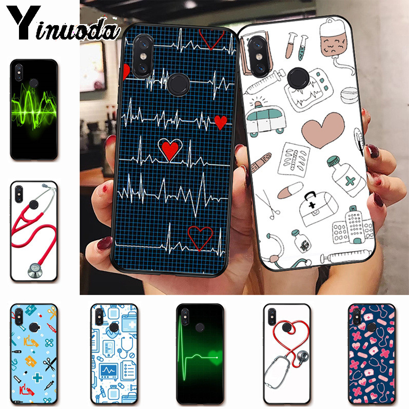 Ynuoda Nurse Medical Medicine Health Heart cartoon classic Case for xiaomi mi 8se 6 note2 note3 redmi 5 plus note5 cover