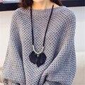 Étnico Bohemio Largo Collar de la Mujer 2017 Collar de Las Borlas de Plumas Accesorios de La Joyería de Cadena de la Cuerda Colgante Collier Femme N1319