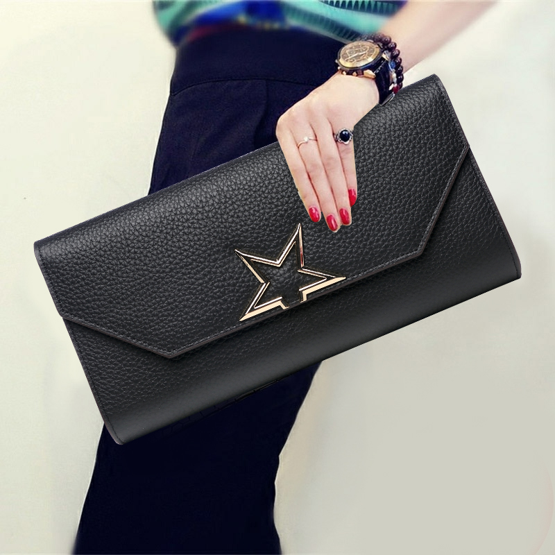 Korean Style Soft Genuine Leather Cover Clutch Bag Party Cow Leather Envelope Bag Fashion Solid Color Day Clutches Birthday Gift cardamom clutches women fashion solid colors shape of hobos zipper soft cow leather casual small clutches cell phone pocket
