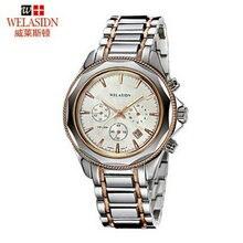 Homens calendário De Tungstênio de aço Inoxidável Relógio de quartzo hombre relogio masculino relógios de Pulso de Negócios de Moda de Ouro de Luxo diamante