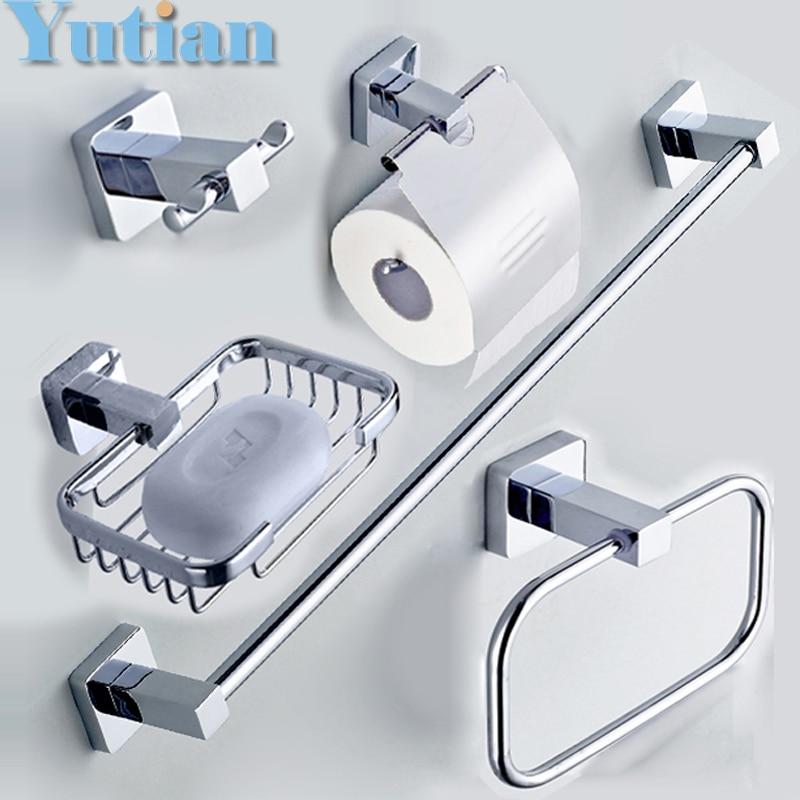 304# Stainless Steel Bathroom Accessories Set,Robe Hook,Paper Holder,Towel  Bar