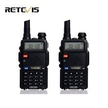 2 шт. Профессиональный Портативной Рации Пара Retevis RT-5R 5 Вт 128CH VOX Сканирование UHF VHF Двухдиапазонный Радио Хэм радио Comunicador