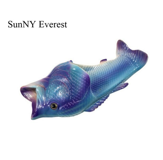 SunNY Everest men slippers fish type soft sole 32-45 wholesale man fish beach sandals 11 12 wholesale