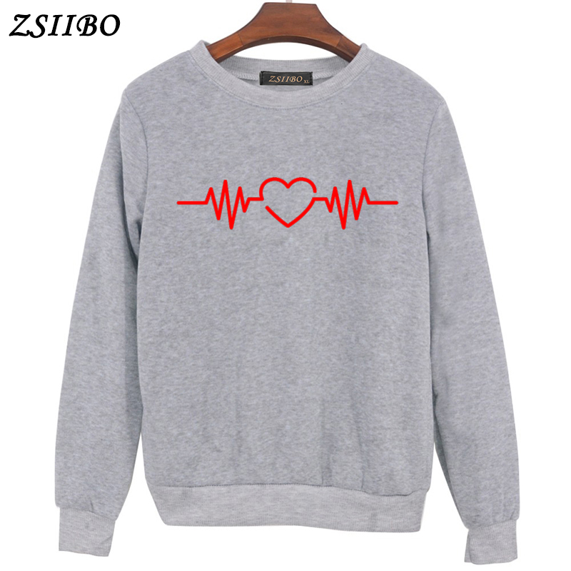 Sweaters Winter Coat Womens Tracksuit Paw Heartbeat Lifeline Love  Print Clothes Warm Brief Sweaters  Harajuku Sweaters  Top