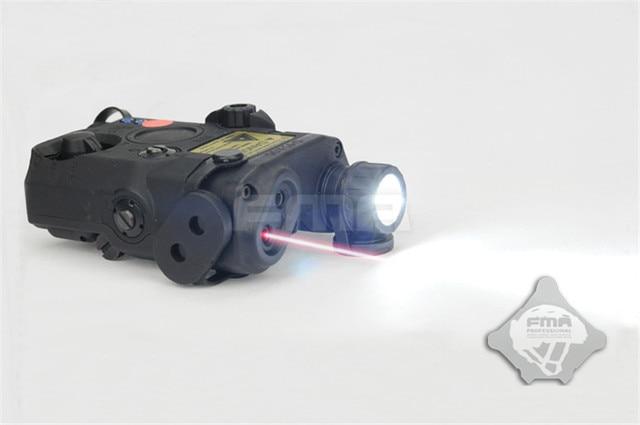 FMA PEQ15-LA5 גרסת שדרוג מקרה הסוללה LED אור לבן + אדום Dot לייזר w/IR רובה ציד איירסופט אקדח עדשות קסדת אור