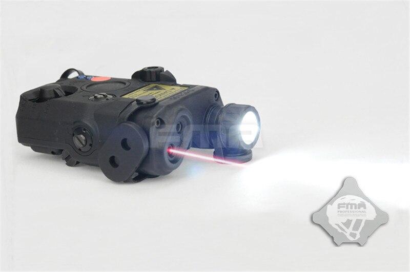 FMA PEQ15-LA5 Mise À Niveau Version Boîtier De Batterie LED Lumière Blanche + Rouge Dot Laser w/IR Lentilles Airsoft Fusil de Chasse fusil Casque Lumière