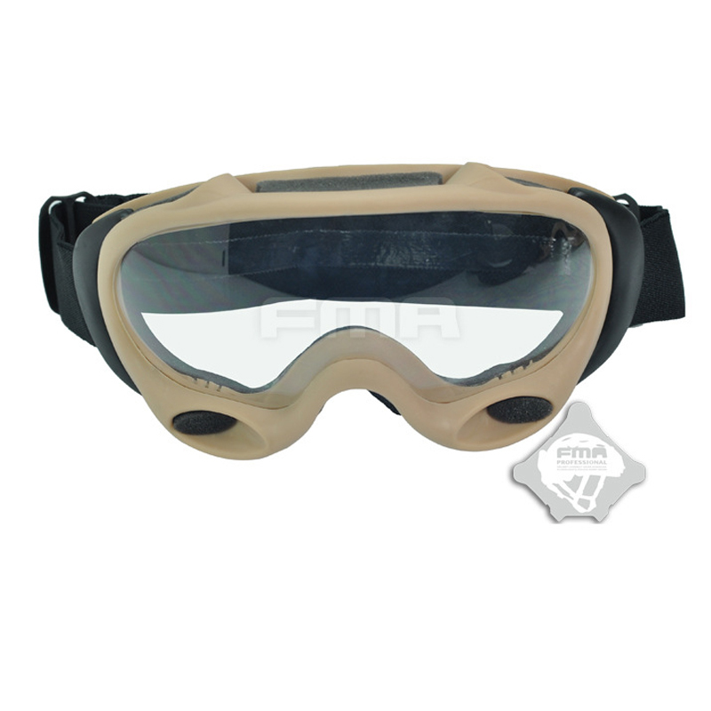 2018 New FMA Helmet accessories Goggles Skiing Glasses Direct Adorn Type ( Match Two Lens SAND ) TB958-DE