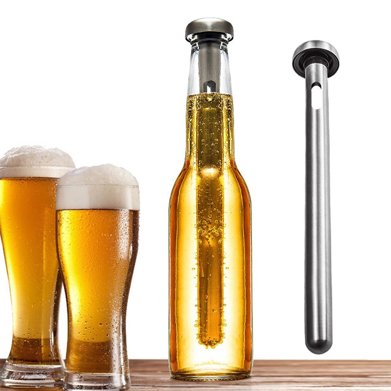 Royalr 2pcs 304 Stainless Steel Beer Cooler Stick Whiskey Wine Chiller Bars Ice Barware Kitchen Tools