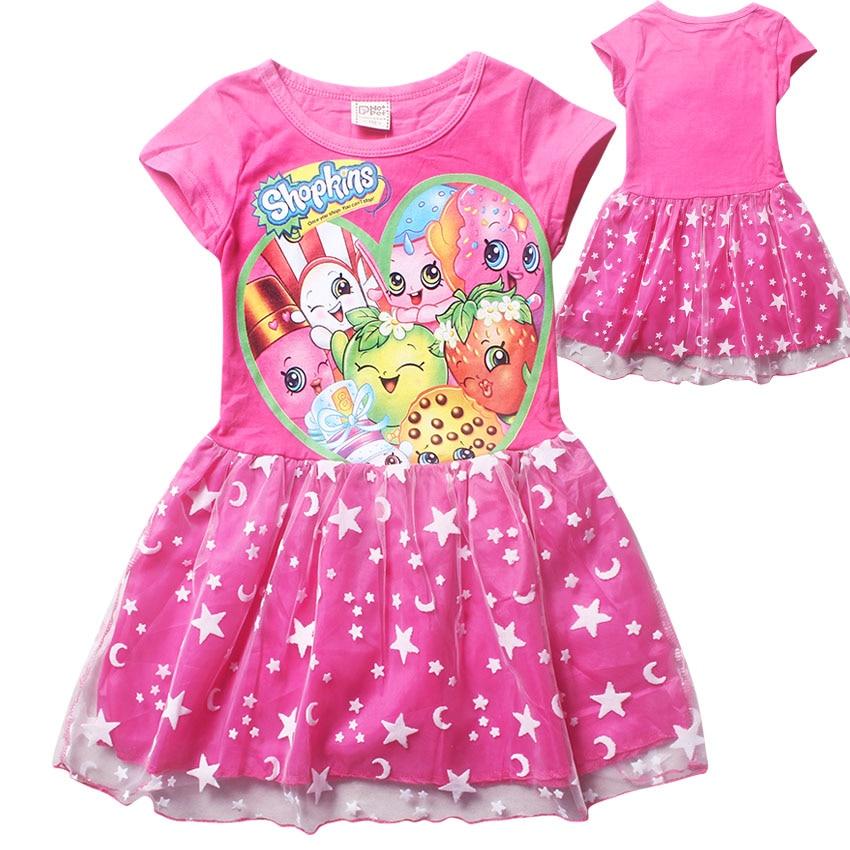 xts848 6 12y new shopkins summer sleeveless children s girl dress