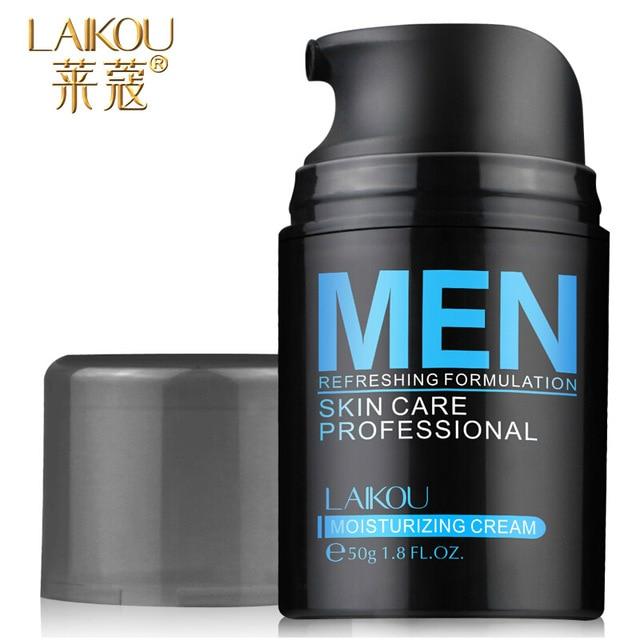 Brand Laikou Natural Men's Skin Care Cream Face Lotion Moisturzing Oil Balance Brighten Pores Minimizing 50g Men Facial Cream