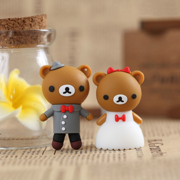 100% real capacity !Retail genuine 4G/8G/16G/32G/64G cartoon usb flash drive cute Bear pen drive usb disk flash drive