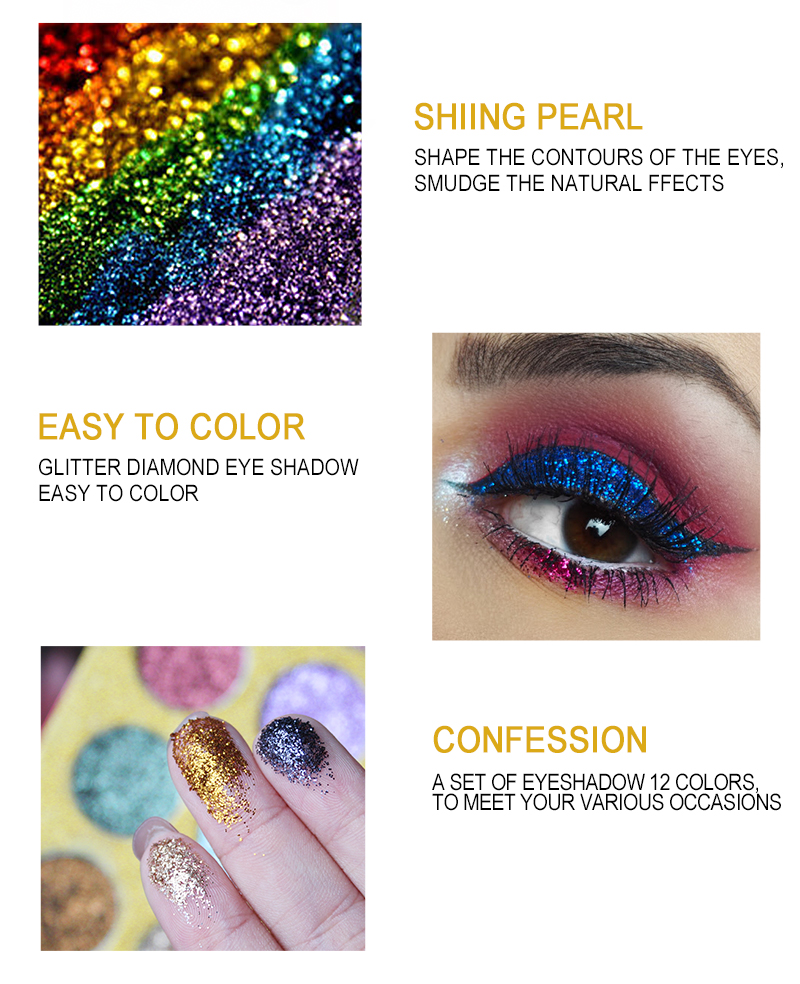 High Quality cosmetics eye shadow