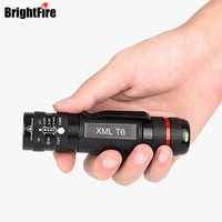 Ultra Bright 4 Modes Zoomable CREE XML T6 Flashlight Waterproof Pocket Mini Led Torch Lights For