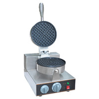Jamielin Commercial Single ended Waffle Oven Cheese Muffin Machine Timed Waffle Machine Snack Machine