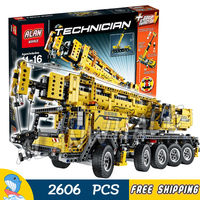 2606pcs 2in1 Technic Mobile Crane MK II Container Stacker 20004 Model Building Blocks Toys Bricks Machine Compatible with Lego