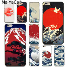 MaiYaCa Wave Art Japanese Green Newest Fashion Luxury phone case for iphone 11 pro 8 7 66S Plus X 5S SE XS XR XS MAX Cover(China)
