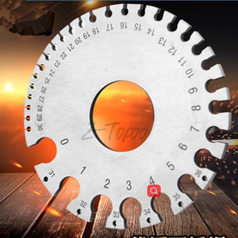 0-36 Round Wire Gauge Weld wire Diameter Gauge Welding Inspection Stainless Steel SWG Standard Inch A.W.G Gauges